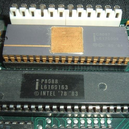 encapsulado DIP i8088 con CoProcesador 8087