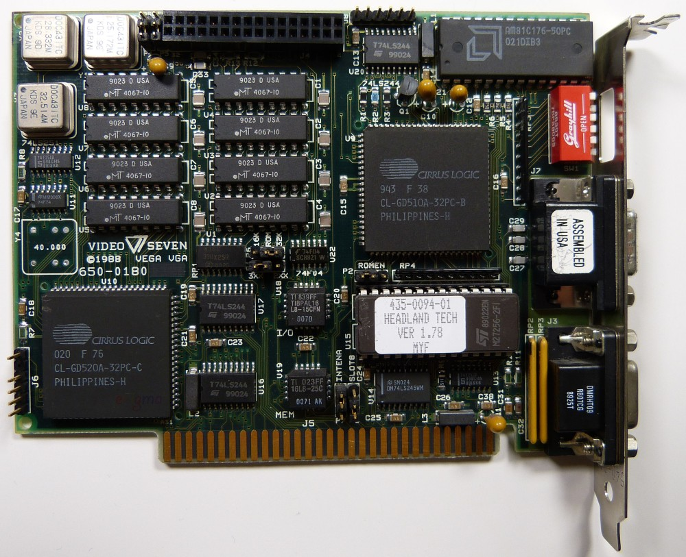 Cirrus Logic CL-GD510A VGA card / Video Seven