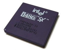 Intel 486SX-33 - haut